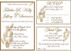 Printable  Rustic Wedding Invitation Thank you by ChicCollections