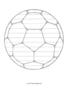 Soccer Writing Template Writing Template, free to download and print