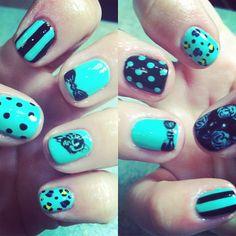 Betsey Johnson inspired nails <3