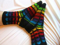 Ravelry: hillanen's Space Invaders Nerd Crafts, Space Invaders, Ravelry, Knit Crochet, Socks, Knitting, My Style, Pattern, Stuff To Buy