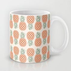Buy Pineapple by Basilique as a high quality Mug. Worldwide shipping available at Society6.com. Just one of millions of products available.