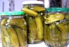 Hideg csemege uborka My Recipes, Cooking Recipes, Preserves, Pickles, Cucumber, Food And Drink, Homemade, Canning, Vegetables