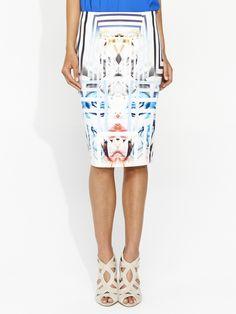 Image for Floral Maze Zip Back Skirt from Portmans