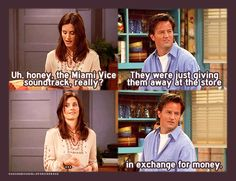 8x17 TOW The Tea Leaves chandler bing monica geller miami vice soundtrack funny