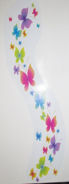 Multi Colored Butterfly Wall Decal