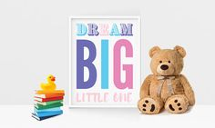 Dream Big 8.5x11 Instant Download Print #nursery #art #quote