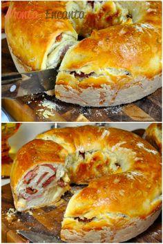 Tortano Pão de Linguiça Calabresa (Pizzaria Bráz) - Monta Encanta