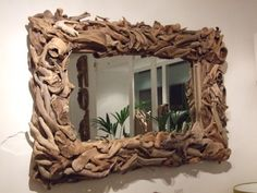 drift wood. this is a cool look for a house on the beach.