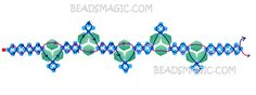 Free pattern for necklace Blue River - 2-- U need Seed Beads 11/0 and Bicones 4-6 mm.