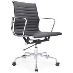 This chair is similar to the classic Eames Chair design. The Low Back Zuo Lider Manhattan Modern Office Chair with stainless steel frame and PVC Leatherette seat is high quality contemporary office chair that looks great in any work environment. Simi
