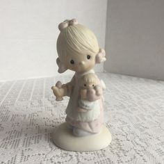 Vintage Precious Moments Figurine / Porcelain Collectible by Jonathan and David / Jesus is the Light 1977 by vintagepoetic on Etsy