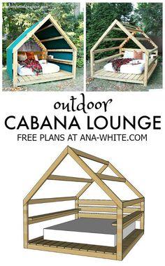 free plans diy outdoor cabana lounge #kidsoutdoorplayhouse #buildplayhouses