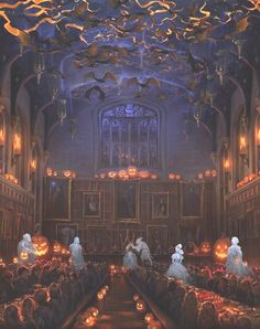 Halloween at Hogwarts Pottermore style. Halloween at Hogwarts Pottermore style. Halloween at Hogwart Harry Potter Universe, Harry Potter World, Mundo Harry Potter, Harry Potter Fan Art, Art And Illustration, Illustrations, Disney Star Wars, Ravenclaw, Movie Posters
