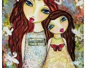 We May Not Have it all Together Fine Art Print of Mixed Media painting. $18.00, via Etsy.