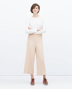 CROPPED HIGH WAISTED TROUSERS-View all-Trousers-WOMAN | ZARA United States