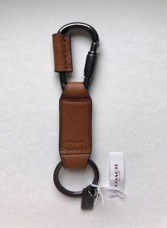 Men/'s ROCK Biker Genuine Leather NO WAR Peace Stud KeyRing Keychain Special Hook