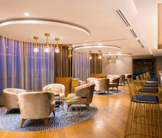 Radisson Blu, Lomé ( Togo) Hospitality lighting by LEDS-C4. + Info:http://bit.ly/2dRx0sy Solutions used: Sixties, Hall by GROK