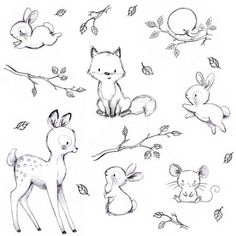 Easy drawings of cute animals cute easy animals to draw best cute baby animal sketches cute . easy drawings of cute animals Easy Animal Drawings, Animal Sketches, Cute Baby Drawings, Easter Drawings, Cute Drawings Of Animals, Nursery Drawings, Nursery Art, Cute Sketches, Drawing Sketches