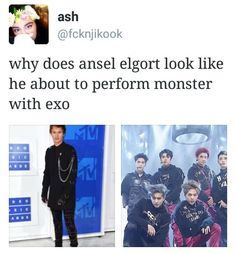 He's not that cool #EXO I'm so mean!