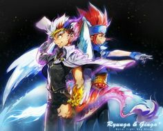 Ryuga and gingka