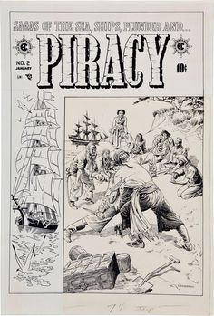 The Bristol Board — Original art by Reed Crandall from Piracy #2,...