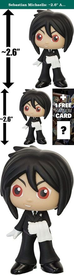 "Sebastian Michaelis: ~2.6"" Anime x Funko Mystery Minis Vinyl Figure + 1 FREE Anime Themed Trading Card Bundle [61463]. Mystery Minis is a crossover vinyl figure series by Funko and other famous franchises such as Disney, Pixar, DC Comics, Marvel Comics, Star Wars, Simpsons, South Park, Uglydoll, etc. Each figure is about ~1"" to ~3"" tall and crafted in a Japanese anime/manga super-deformed style (NOTE: due to the unique design of each character, the actual size of the figures may be…"