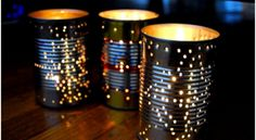 TO: Recycle a Tin Can Into a Gorgeous Outdoor Lantern for Summer Parties.HOW TO: Recycle a Tin Can Into a Gorgeous Outdoor Lantern for Summer Parties. IMAX Modi Pierced Lanterns, Set of 3 Tin Can Lights, Tin Can Lanterns, Tea Lights, Candle Lanterns, Patio Lanterns, Tea Candles, Party Lights, Hanging Lanterns, Beeswax Candles