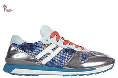 Hogan chaussures baskets sneakers femme en daim r261 rebel blu EU 40 HXW2610Q9008IP371G - Chaussures hogan (*Partner-Link)