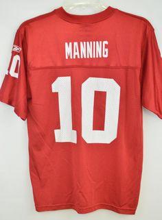 2461229dc Youth New York Giants Reebok Size Large 14-16 Eli Manning Jersey Red  Reebok