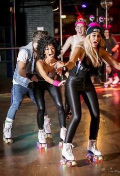 The X Factor contestants head to the roller disco ahead of disco week - Nicole Scherzinger images - Sugarscape.com