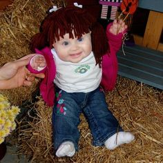 @Leisa Stratton Caroline would make theeeee cutest Cabbage Patch doll with those adorable chubby cheeks of hers!