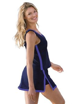 Inches Off Plus Size Swimsuit, 2-Piece Skirtini $55.97