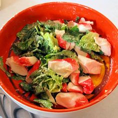 Seafood Ceasar Salad at oldfatguy.ca Slaw Recipes, Entree Recipes, Seafood Recipes, Fancy Recipes, Gourmet Recipes, Ceasar Salad, Cocktail Sauce, High Class, Lettuce