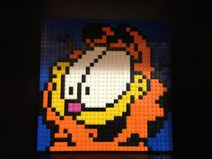 Custom Lego Garfield Mosaic 32x32 by C3Brix on Etsy, $55.00