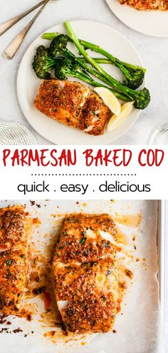 This oven baked Parmesan Crusted Cod recipe is an easy fish meal to prepare for a quick, tasty weeknight dinner. This recipe is cod topped with parmesan cheese and baked to perfection. Fish Dinner, Seafood Dinner, Seafood Meals, Crusted Cod Recipe, Parmesan Crusted Cod, Cooking Recipes, Healthy Recipes, Tilapia, Fish Meal
