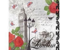 Tea Time in London Decoupage Napkin