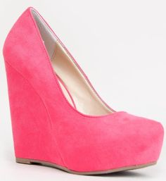 #Shoes - Breckelle's BERRY-01 Hidden Platform Wedge Heel Basic Pump - Buy Now: $22.54 - $33.00