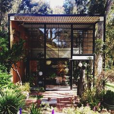 Eames house in Pacific Palisades, California.