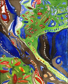 This painting is called #Sanctuary — a theme that comes up again and again in my work. The notion of sanctuary is so individual —for me it is a place of #peace, #love and #safety. I find it in the #wilderness, in my #gardens, #reading, #walking, in my immediate family (husband, children and dogs) and always, always in #creativeprocess — #painting and #writing.  What is your sanctuary?    #IsaCattoStudio #watercolor #contemporaryart #artist #colorado #supporart