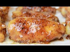 Alitas de pollo glaseadas con miel disponible en Spanish Food, Baked Potato, Carne, Pork, Meat, Chicken, Ethnic Recipes, Yummy Yummy, 3