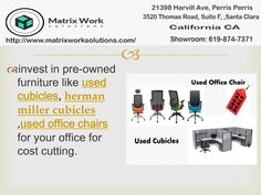 Invest in and save your . Used Cubicles, Used Office Chairs, California Ca, Santa Clara, Save Yourself, Investing, Money, Furniture, Silver