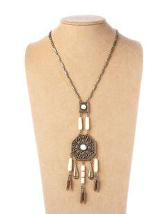 Brass/Ivory Apache Necklace