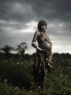 Beautiful Pregnant Hamer Woman