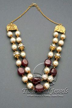 Tiraa by Tibarumal Jewels India Jewelry, Bead Jewellery, Pearl Jewelry, Antique Jewelry, Beaded Jewelry, Jewelery, Diamond Jewellery, Indian Wedding Jewelry, Bridal Jewelry