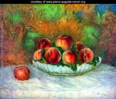 Still life with fruits - Pierre Auguste Renoir - www.pierre-auguste-renoir.org
