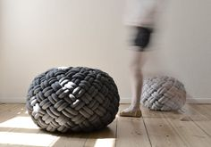 KNOTTY floor cushion (2 sizes, 2 colours)