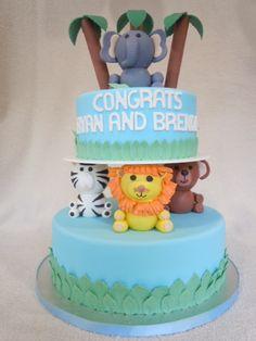 amazing baby shower cakes images | Amazing Amazon Baby Shower / Jungle Themed Cake | Flickr - Photo ...