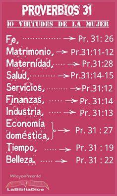 Proverbios 31:10¿Quién puede encontrar una mujer virtuosa? Porque tal es más valiosa que piedras preciosas.