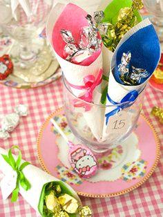 Paper cones advent calendar to make - wedding favors  Christmas craft ideas - Craft - allaboutyou.com