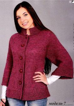 "diy_crafts- ""Free Knitting Patterns - Raglan Jacket in Stockinette Stitch"", ""Jacket-raglan - Knitting with needles - Country Moms"", ""Jacke Knitting Patterns Free, Knit Patterns, Free Knitting, Baby Knitting, Free Pattern, Knit Jacket, Knit Cardigan, Stockinette, Jacket Pattern"